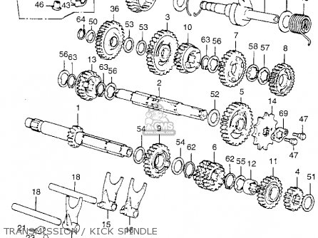 drum gearshift fits cr125m elsinore m1 1975 usa order at cmsnl rh cmsnl com 2001 honda cr125 engine diagram honda cr125 engine diagram