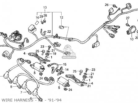 wire harness f2 91 94_mediumhu0296f2800c_e77e stay,ign coil cbr600f3 supersport 1997 (v) canada 30507mv9000 97 cbr 600 f3 wiring diagram at crackthecode.co