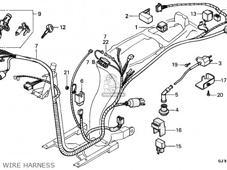harness wire fits sh50 scoopy 1993 p portugal kph order at cmsnl rh cmsnl com Honda Motorcycle Wiring Schematic Diagram Honda