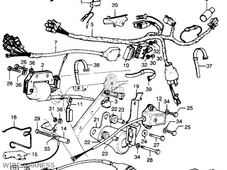 1983 Honda Civic Radio Wiring Diagram further R Echappement mach together with Air Force Harness additionally 1986 Honda Xl600r Wiring Diagram furthermore Partslist. on 1983 honda xl 250