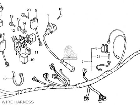 Wire Harness For Xl250r 1987 H Usa