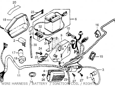 Express Wiring Harness Also 1982 Honda Express Nc50 Wiring Diagram