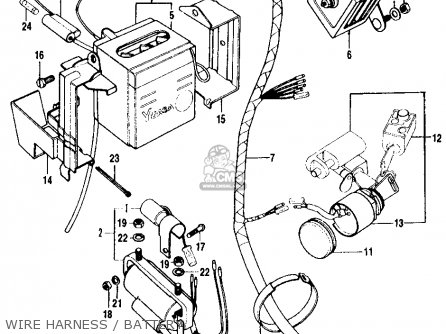 Wire Harness For Ct90 Trail 1972 K4 Usa
