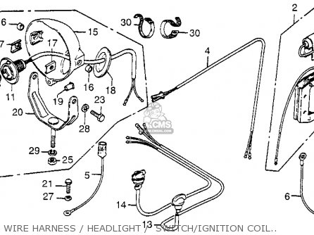 WIRE, ENGINE GROUND for FL250 ODYSSEY 1977 USA - order at CMSNLCmsnl.com
