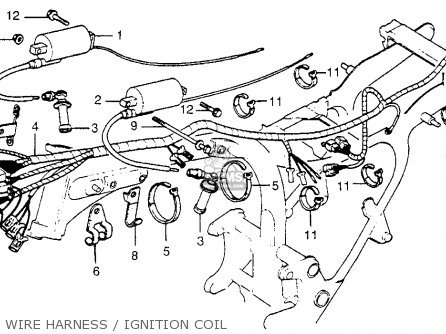 Wire Harness For Cx500d Deluxe 1979 Z Usa