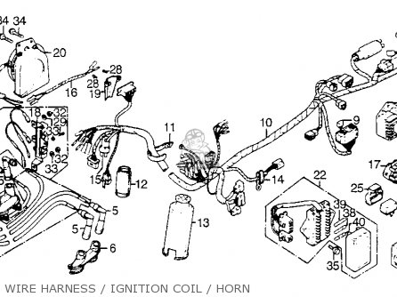 clip wire harness fits gl1000 goldwing 1976 usa order at cmsnl rh cmsnl com 1998 Honda Goldwing Starter Wiring Diagram 2004 Honda 450 ES Wiring-Diagram