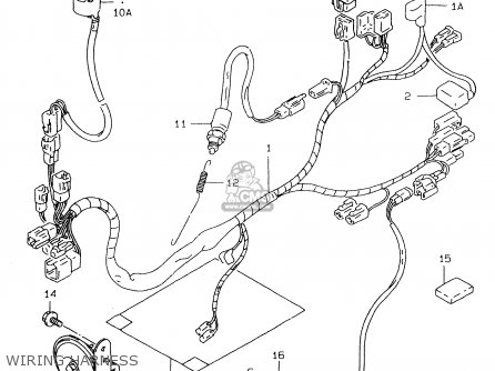 suzuki 3661815d20 cover,wiring harness, Wiring diagram
