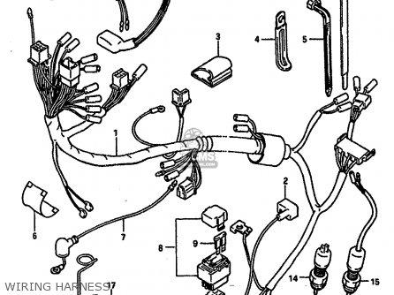 Coverwiring Harness For Dr600r 1987 H E02 E04 E06 E15 E16 E17