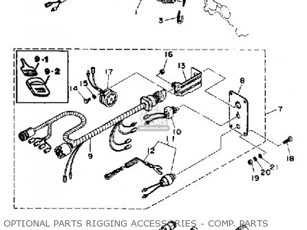 Yamaha 115 130 Etd 1990 Optional Parts Rigging Accessories - Comp  Parts