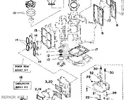 Yamaha 115 130 Etd 1990 Repair Kit 1
