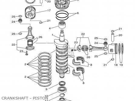 Yamaha 150 175try 2000 Crankshaft - Piston
