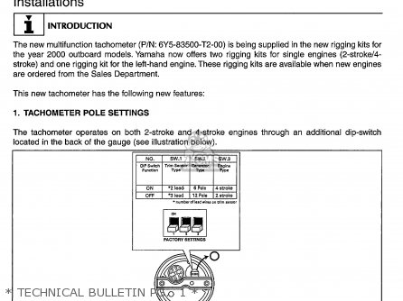 Yamaha 150 175try 2000   Technical Bulletin Pg   1