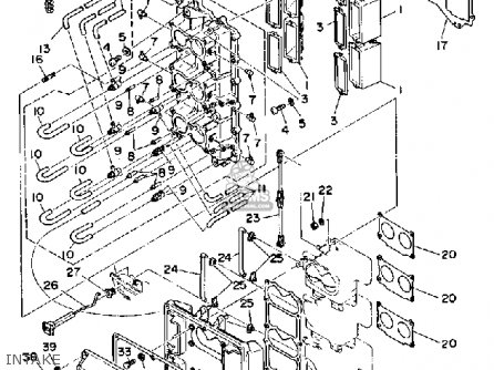 Yamaha 150F PRO V 1989 parts lists and schematics on