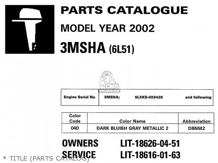 Yamaha 3msha 2002   Title parts Catalog