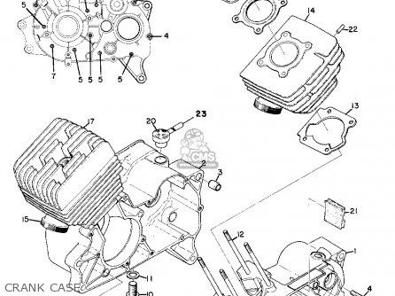 Yamaha As2c 1969 Usa Crank Case
