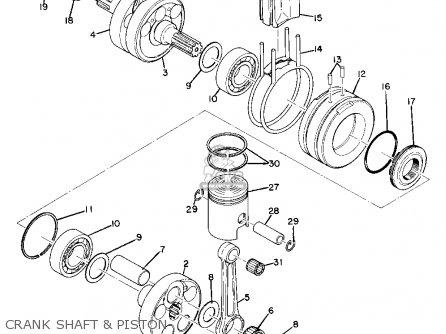 Yamaha As2c 1969 Usa Crank Shaft  Piston