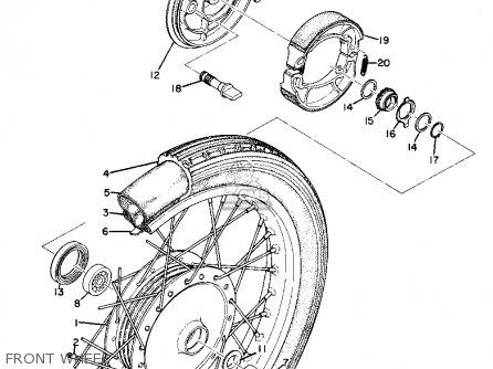 Yamaha As2c 1969 Usa Front Wheel