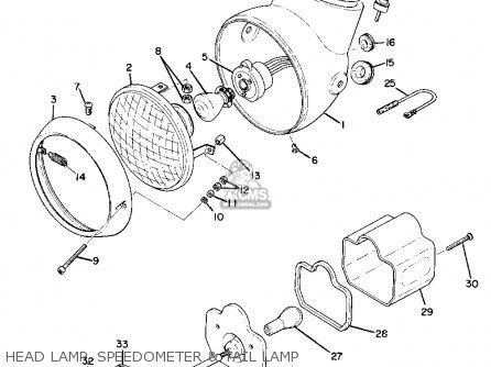 Yamaha As2c 1969 Usa Head Lamp  Speedometer  Tail Lamp