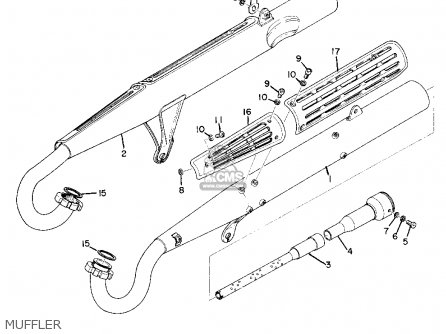 Yamaha As2c 1969 Usa Muffler