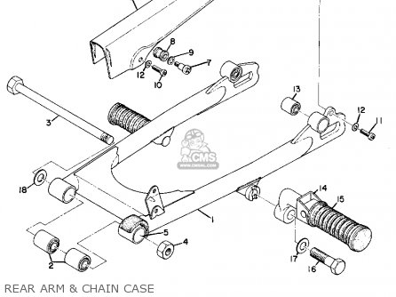 Yamaha As2c 1969 Usa Rear Arm  Chain Case