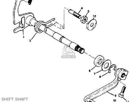 Yamaha At3 1972 1973 Usa Shift Shaft