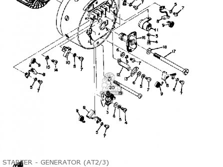 Yamaha At3 1972 1973 Starter - Generator at2 3