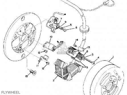 Yamaha Atmx 1972 1973 Usa Flywheel