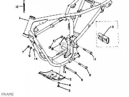 Yamaha Atmx 1972 1973 Usa Frame