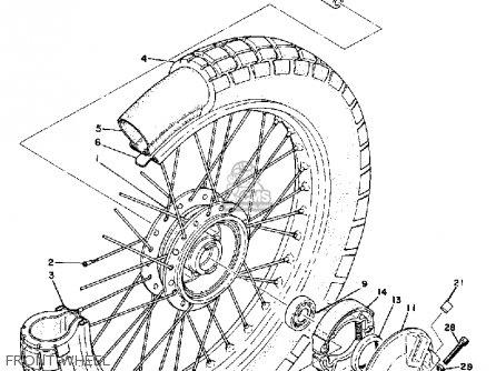 Yamaha Atmx 1972 1973 Usa Front Wheel