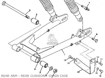 Yamaha Atmx 1972 1973 Usa Rear Arm - Rear Cushion - Chain Case