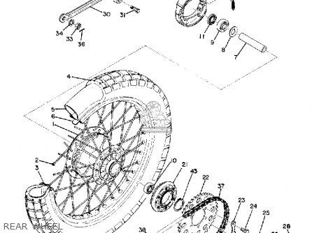 Yamaha Atmx 1972 1973 Usa Rear Wheel