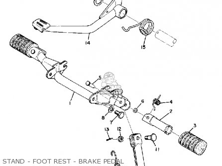 Yamaha Atmx 1972 1973 Usa Stand - Foot Rest - Brake Pedal
