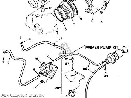 yamaha bravo wiring diagram yamaha br250k bravo 1985/1986 parts lists and schematics yamaha yz250 wiring diagram