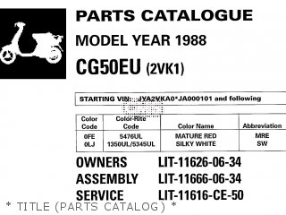 Yamaha Cg50eu 1988   Title parts Catalog