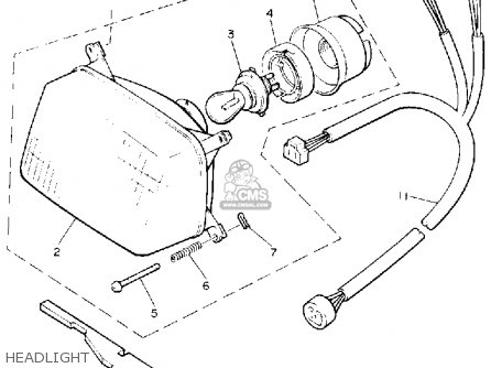 Yamaha Cs340et Ovation 1993 Headlight