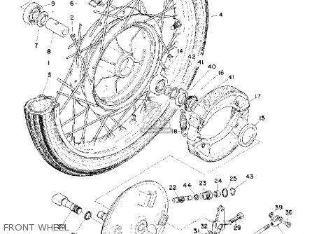 Yamaha Cs5 1972 Usa Front Wheel