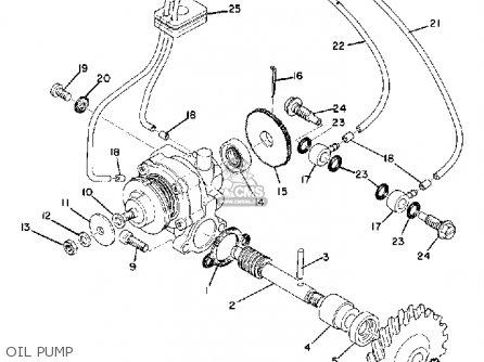 Yamaha Cs5 1972 Usa Oil Pump