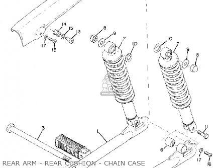 Yamaha Cs5 1972 Usa Rear Arm - Rear Cushion - Chain Case