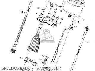 Yamaha Cs5 1972 Usa Speedometer - Tachometer