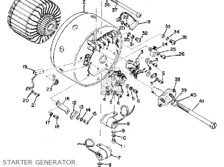 Yamaha Cs5 1972 Usa Starter Generator