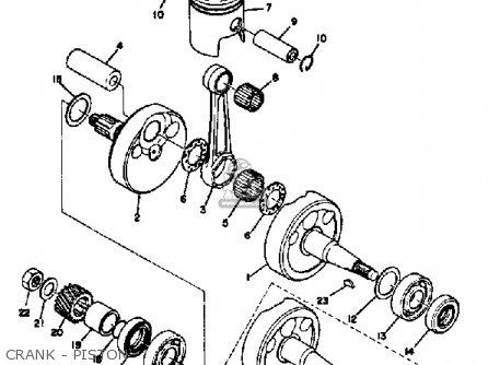 Yamaha Ct3 1973 Usa Crank - Piston