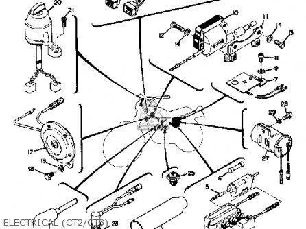 Yamaha Ct3 1973 Usa Electrical ct2 ct3