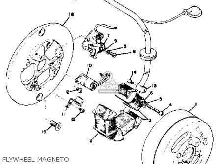 Yamaha Ct3 1973 Usa Flywheel Magneto