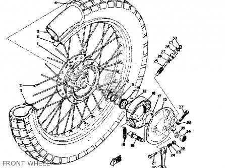 Yamaha Ct3 1973 Usa Front Wheel