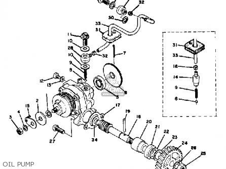 Yamaha Ct3 1973 Usa Oil Pump