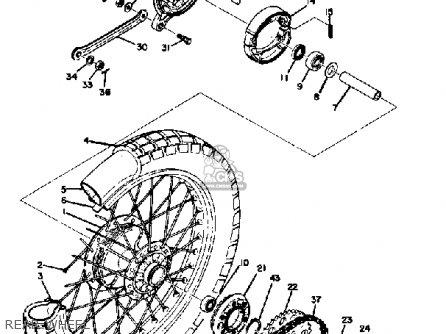 Yamaha Ct3 1973 Usa Rear Wheel
