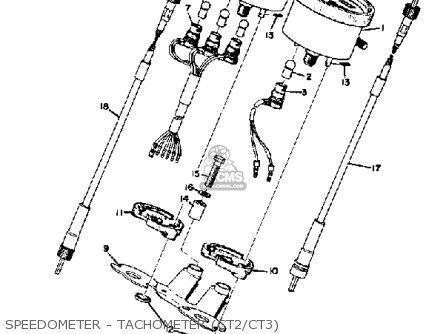 Yamaha Ct3 1973 Usa Speedometer - Tachometer ct2 ct3