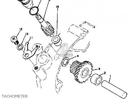 Yamaha Ct3 1973 Usa Tachometer