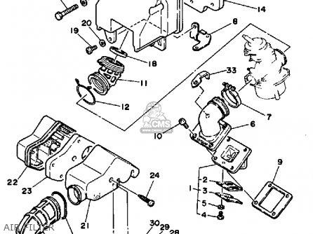 yamaha cv80 1985 riva parts lists and schematics Yamaha Ignition Diagram air filter