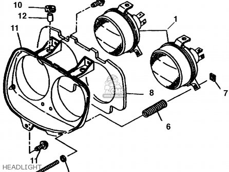 Yamaha Cw60k 1998 Headlight